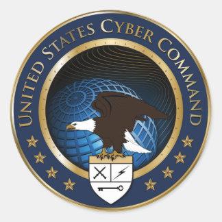 米国のサイバー命令のシール ラウンドシール