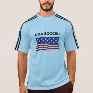 米国のサッカーの男性アディダスClimaLite®のTシャツ Tシャツ