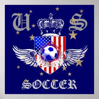 米国のサッカーの紋章付き外衣2012の2014の米国のスポーツ ポスター