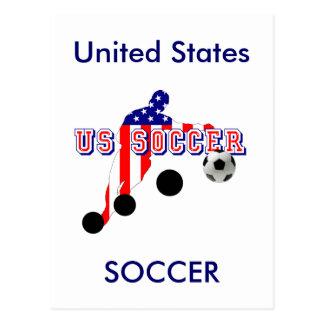 米国のサッカーの選手のくねりそれはアメリカ人を好みます ポストカード