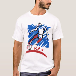米国のサッカーのSwooshのTシャツ Tシャツ