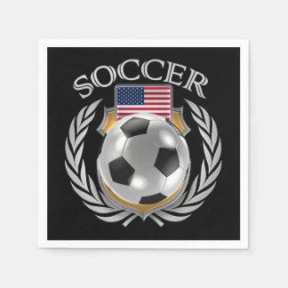 米国のサッカー2016ファンのギア スタンダードカクテルナプキン