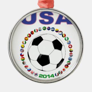 米国のサッカー5808 メタルオーナメント
