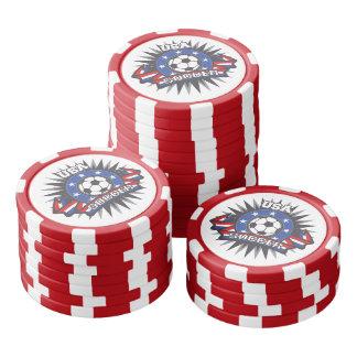 米国のサッカー カジノチップ