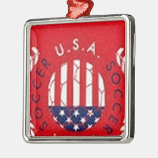 米国のサッカー メタルオーナメント