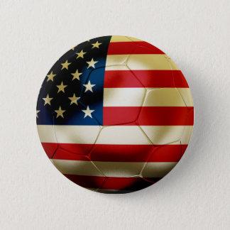米国のサッカー 5.7CM 丸型バッジ