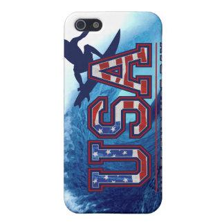 米国のサーファーの独立記念日 iPhone SE/5/5sケース