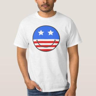 米国のスマイリーフェイスのver。 2 tシャツ