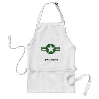 米国のチームワークの緑 スタンダードエプロン