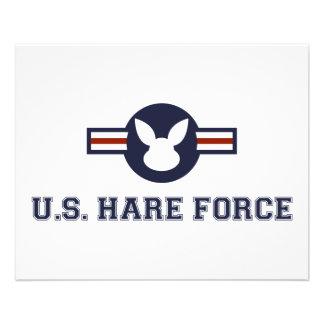 米国のノウサギの空軍バニー チラシ