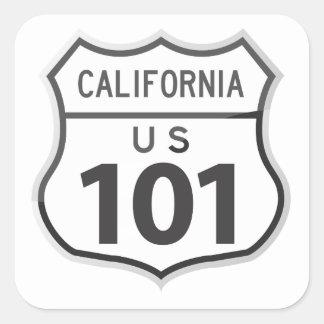 米国のハイウェー101カリフォルニア遠征旅行ステッカー スクエアシール