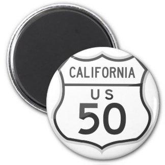 米国のハイウェー50カリフォルニア遠征 マグネット