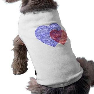 米国のハート犬のワイシャツ ペット服