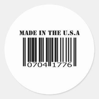 米国のバーコードで作られる ラウンドシール