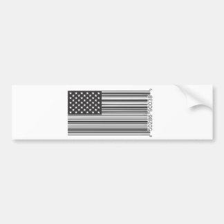 米国のバーコード バンパーステッカー
