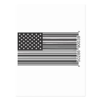 米国のバーコード ポストカード