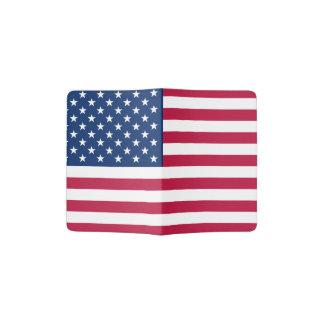 米国のパスポートのホールダーの旗 パスポートカバー