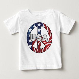 米国のピースサイン ベビーTシャツ