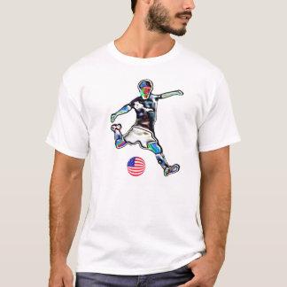 米国のフラグフットボールのサッカーjerseyのTシャツ Tシャツ