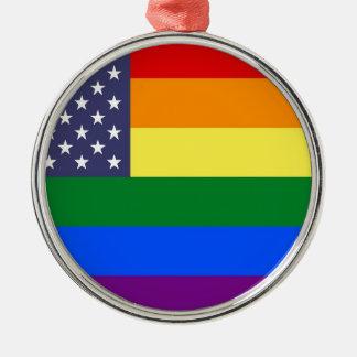 米国のプライドの旗 メタルオーナメント
