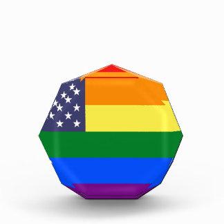 米国のプライドの旗 表彰盾