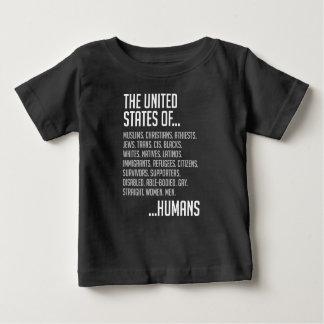 米国のベビーの暗いジャージーのTシャツ ベビーTシャツ