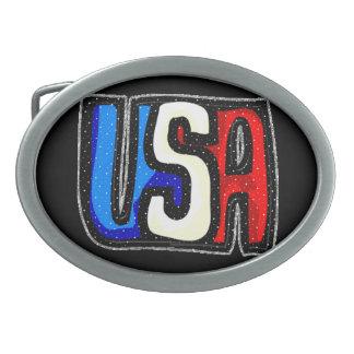 米国のベルトの留め金 卵形バックル