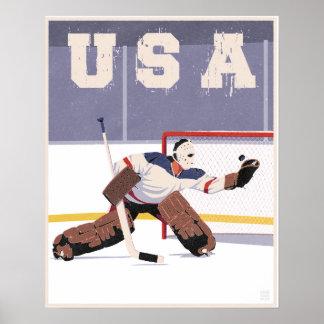 米国のホッケーのゴールキーパー ポスター