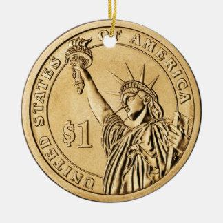 米国のミントからの2007年の大統領のな1つのドルの硬貨 セラミックオーナメント