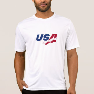 米国のラケットボール乾燥した適合のTシャツ Tシャツ