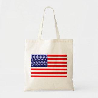 米国のリサイクルの旗のバッグ トートバッグ