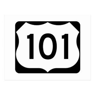 米国のルート101の印 ポストカード