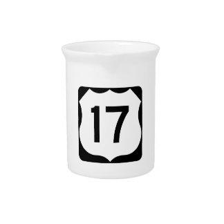 米国のルート17の印 ピッチャー