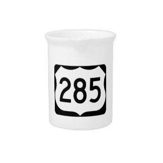 米国のルート285の印 ピッチャー