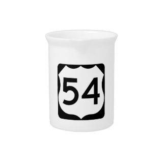 米国のルート54の印 ピッチャー