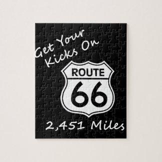 米国のルート66のget_your_kicks ジグソーパズル