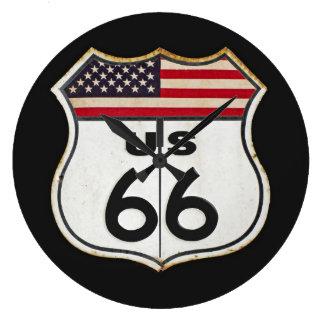 米国のルート66 ラージ壁時計