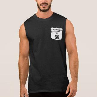 米国のルート66 袖なしシャツ