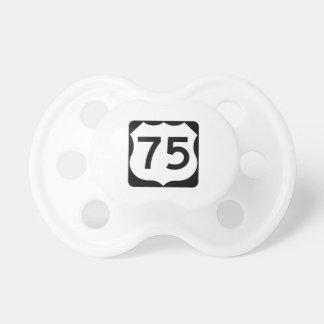 米国のルート75の印 おしゃぶり