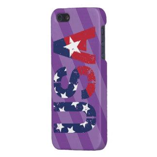 米国のロゴは、精通した光沢のある終わりのiPhone 5/5Sの箱を包装します iPhone SE/5/5sケース