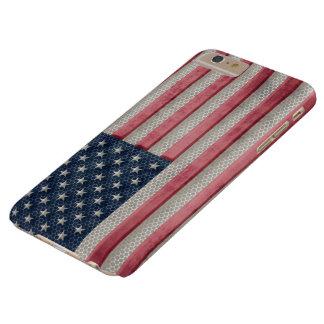米国のヴィンテージの金属の旗 BARELY THERE iPhone 6 PLUS ケース