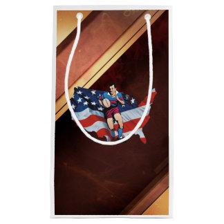 米国の上のラグビー スモールペーパーバッグ