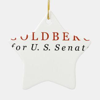 米国の上院のためのゴールドバーグ セラミックオーナメント