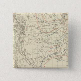 米国の中間温度 5.1CM 正方形バッジ