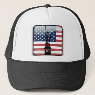 米国の光沢のある旗 キャップ
