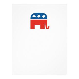 米国の共和党象 チラシ
