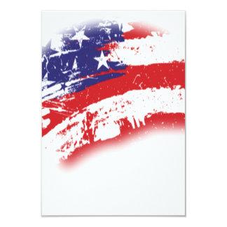 米国の動揺してな愛国心が強い米国旗の抽象芸術 カード