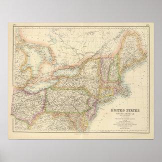 米国の北東州 ポスター
