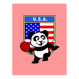 米国の卓球のパンダ ポストカード