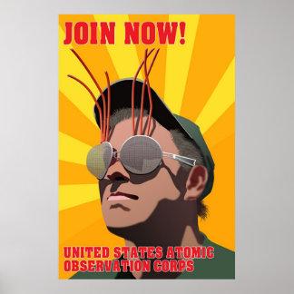 米国の原子観察隊 ポスター